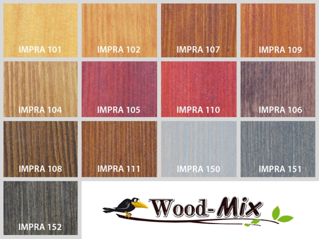 paleta kolorów lakierów do drewna